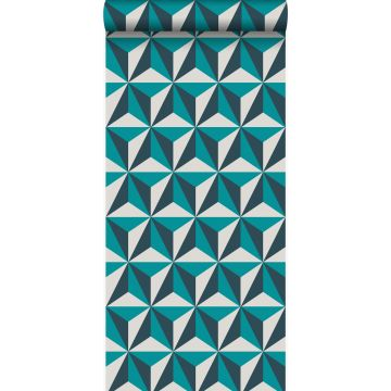 wallpaper graphic 3D turquoise