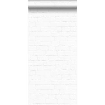 wallpaper vintage painted brick wall matt white