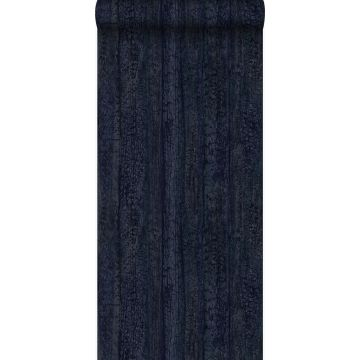 wallpaper wooden planks dark blue