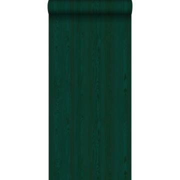 wallpaper fresh wood planks emerald green