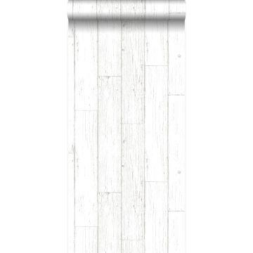 wallpaper weathered vintage scrap wood planks ivory white