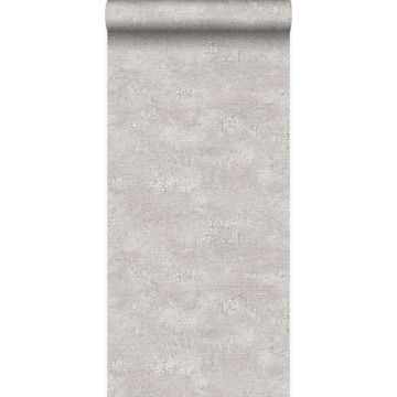 wallpaper natural stone with craquelé effect light gray