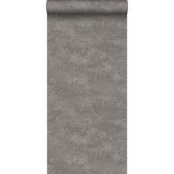 wallpaper natural stone with craquelé effect taupe