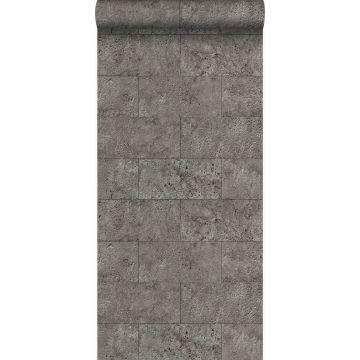 wallpaper limestone blocks in half-brick bond taupe