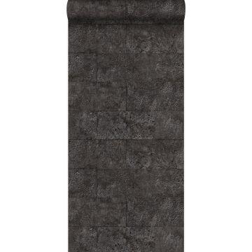 wallpaper limestone blocks in half-brick bond black