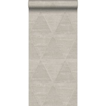 wallpaper weathered metal triangles warm silver