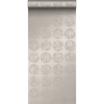 wallpaper large weathered affected spheres taupe