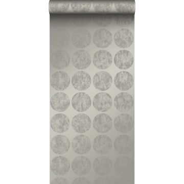wallpaper large weathered affected spheres dark gray