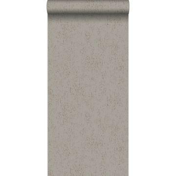 wallpaper metal effect taupe
