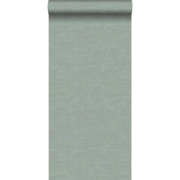 wallpaper linen texture celadon green