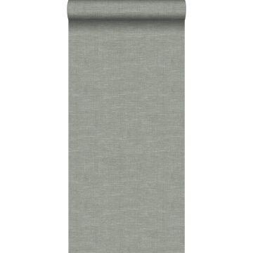 wallpaper linen texture grayish green