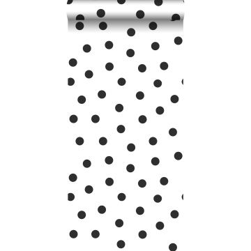 wallpaper dots black and white