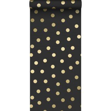 wallpaper dots black and gold