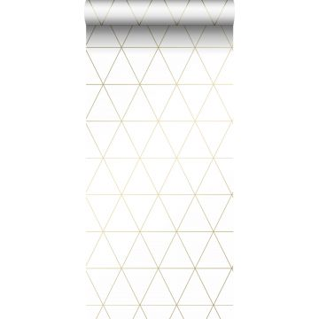 wallpaper graphical triangles white and gold