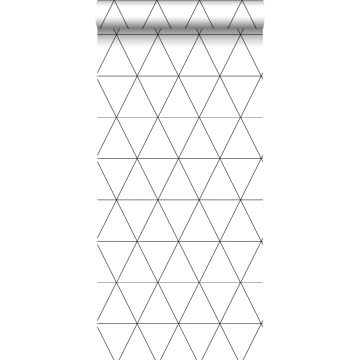 wallpaper graphical triangles black and white