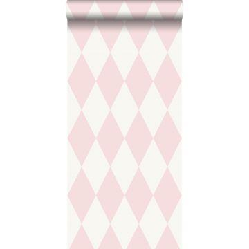 wallpaper rhombus motif shiny pink