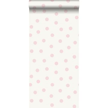wallpaper dots shiny pink and white