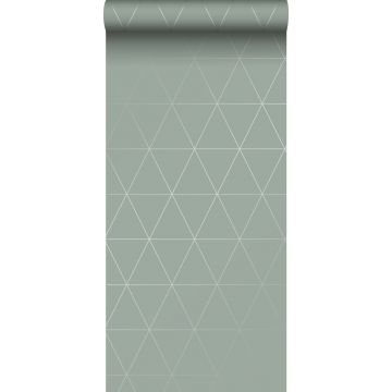 wallpaper graphical triangles grayish green
