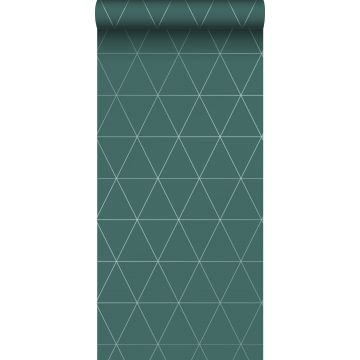 wallpaper graphical triangles green
