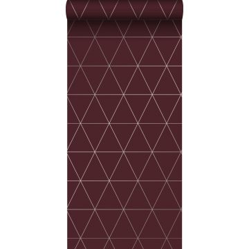 wallpaper graphical triangles red