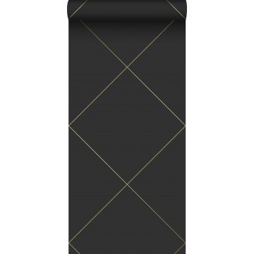wallpaper graphic lines black and gold