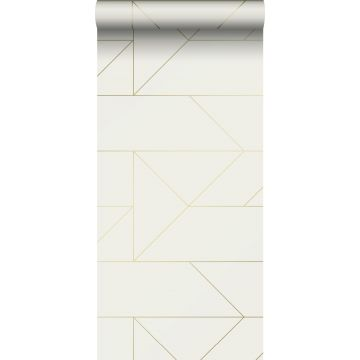 wallpaper graphic lines beige and gold