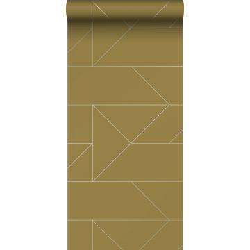 wallpaper graphic lines mustard