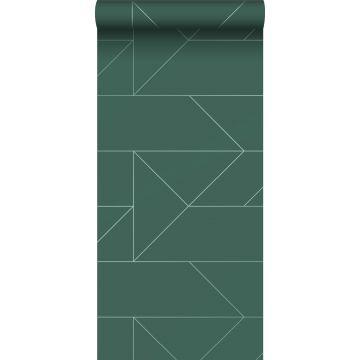 wallpaper graphic lines dark green