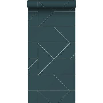 wallpaper graphic lines dark blue