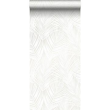 wallpaper palm leaves white