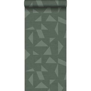 wallpaper graphic motif with woven structure green