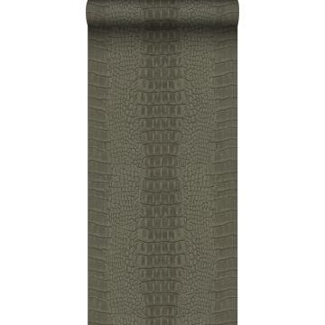 wallpaper crocodile skin taupe