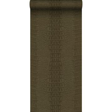 wallpaper crocodile skin brown