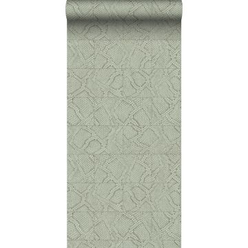 wallpaper tile motif with snake skin pattern pale gray
