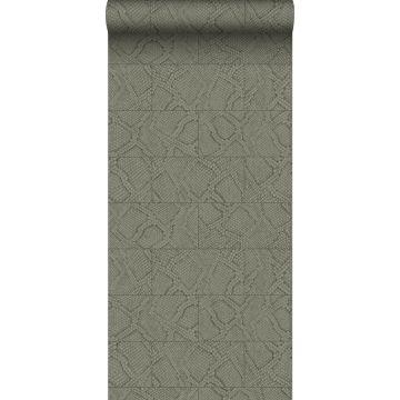 wallpaper tile motif with snake skin pattern taupe