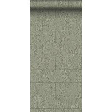 wallpaper tile motif with snake skin pattern beige