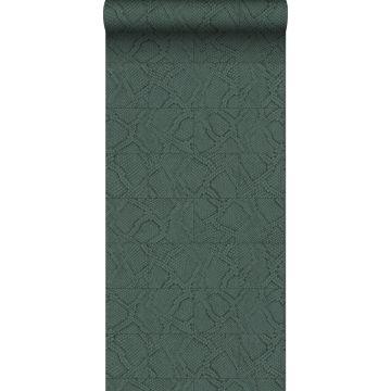 wallpaper tile motif with snake skin pattern teal