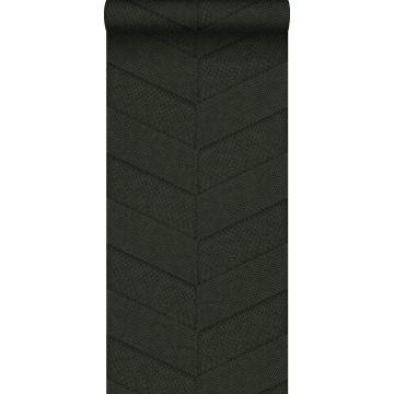 wallpaper tile motif with snake skin pattern dark green