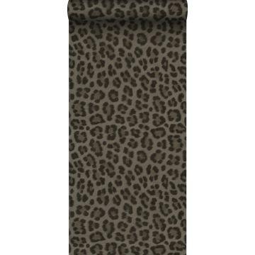 wallpaper leopard skin taupe