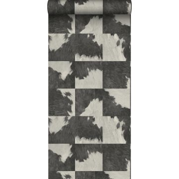 wallpaper cowhide imitation black and white