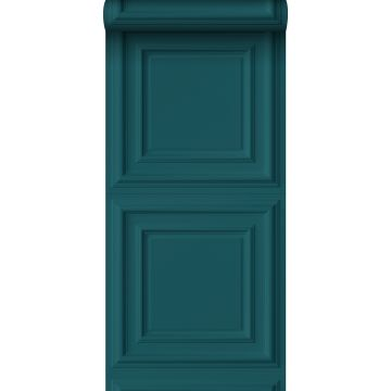wallpaper wall panelling teal