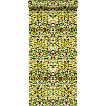 non-woven wallpaper XXL jungle fever yellow