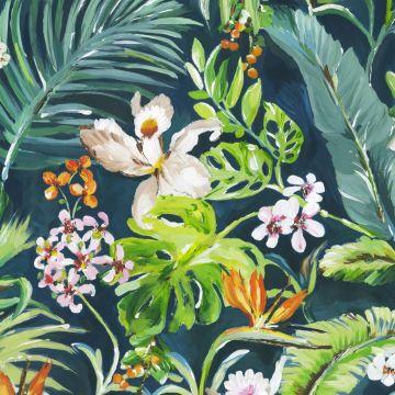 wall mural tropical green