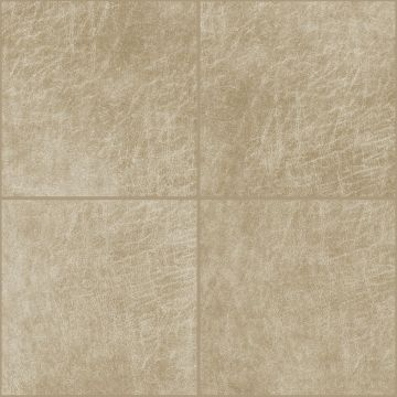 self-adhesive eco-leather tiles square sand beige