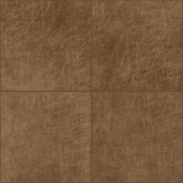 self-adhesive eco-leather tiles square cognac brown