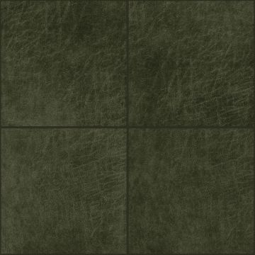 self-adhesive eco-leather tiles square olive green