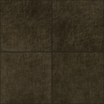 self-adhesive eco-leather tiles square dark brown