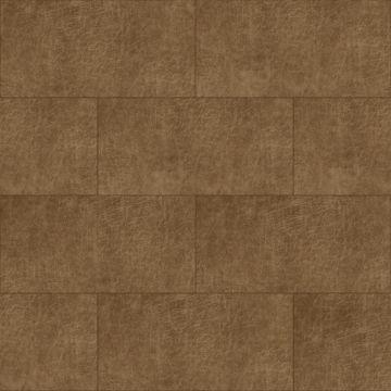 self-adhesive eco-leather tiles rectangle cognac brown