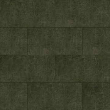 self-adhesive eco-leather tiles rectangle olive green