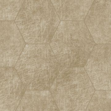 self-adhesive eco-leather tiles hexagon sand beige